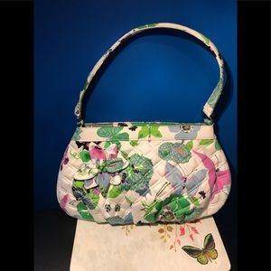 VERA BRADLEY Quilted Butterfly Hobo Bag